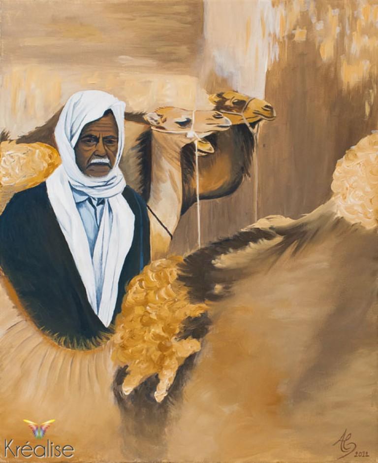 «Le Chamelier» – Peinture sur toile à l'huile – 38cmX46cm – 2012 – Œuvre Originale – (Vendu)