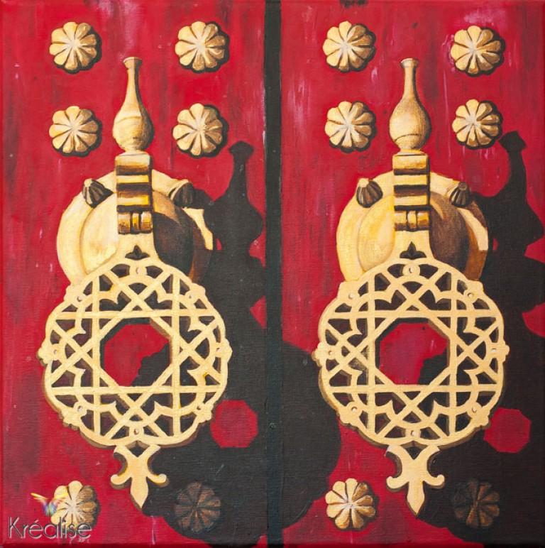 «Huis clos» – Peinture sur toile à l'acrylique – 40cmX40cm – 2012 – Œuvre Originale – (A vendre 350€)