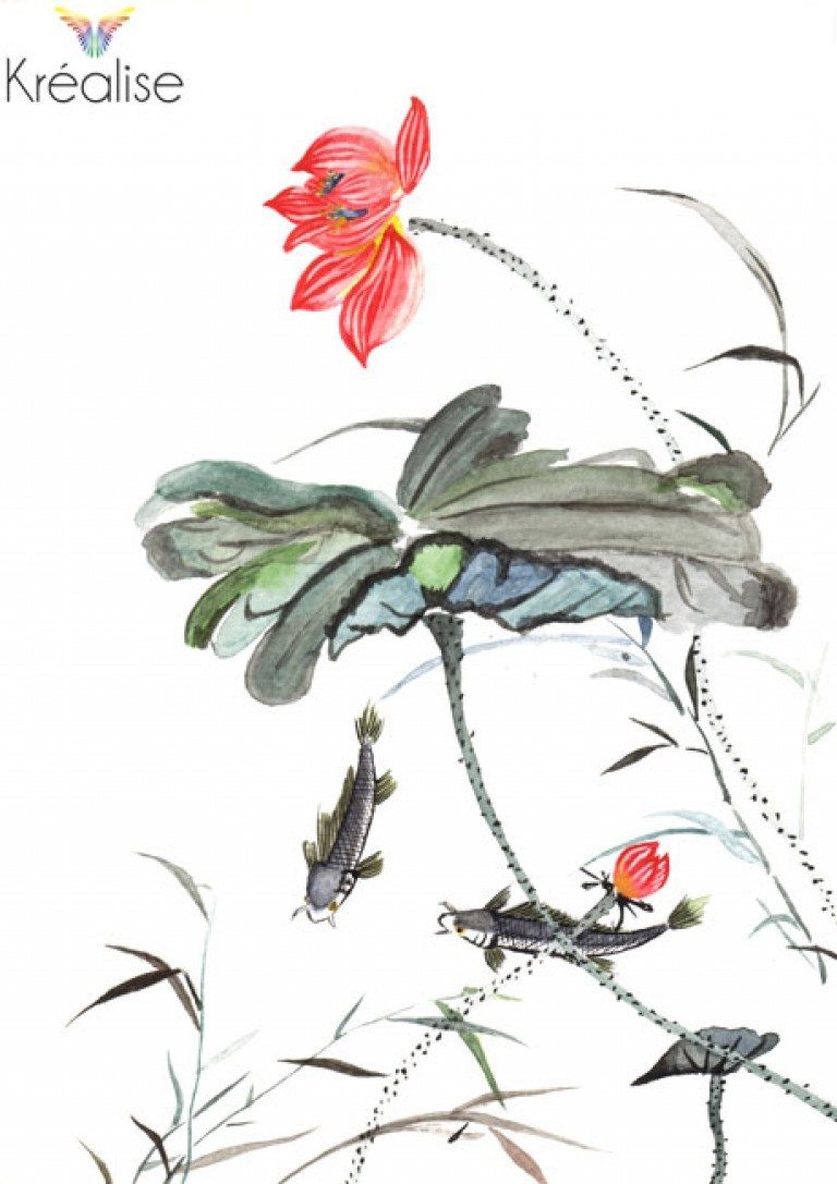 D'après I-Ching – Peinture sur papier à l'aquarelle – 15cmX21cm – 2006 – (A vendre 35€)