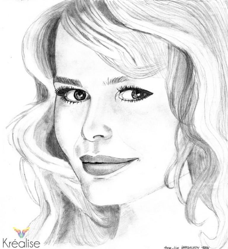 «Claudia» – Dessin sur papier au crayon – 21cmX23cm – 1996 – Œuvre Originale
