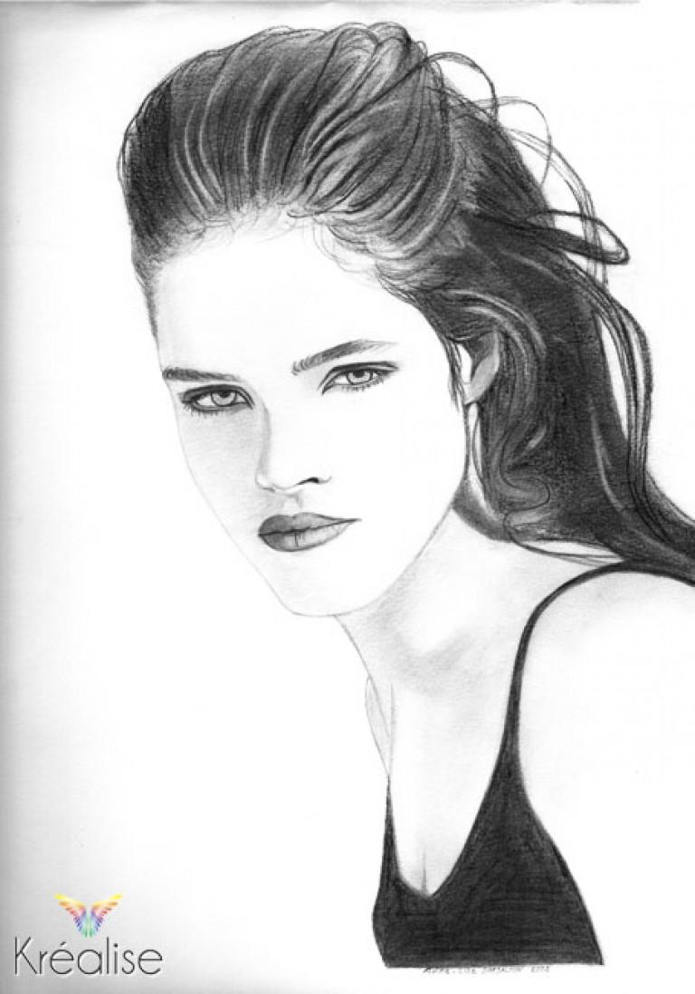 «Mannequin» – Dessin sur papier au crayon – 24cmX32cm – 2002 – Œuvre Originale – (A vendre 35€)