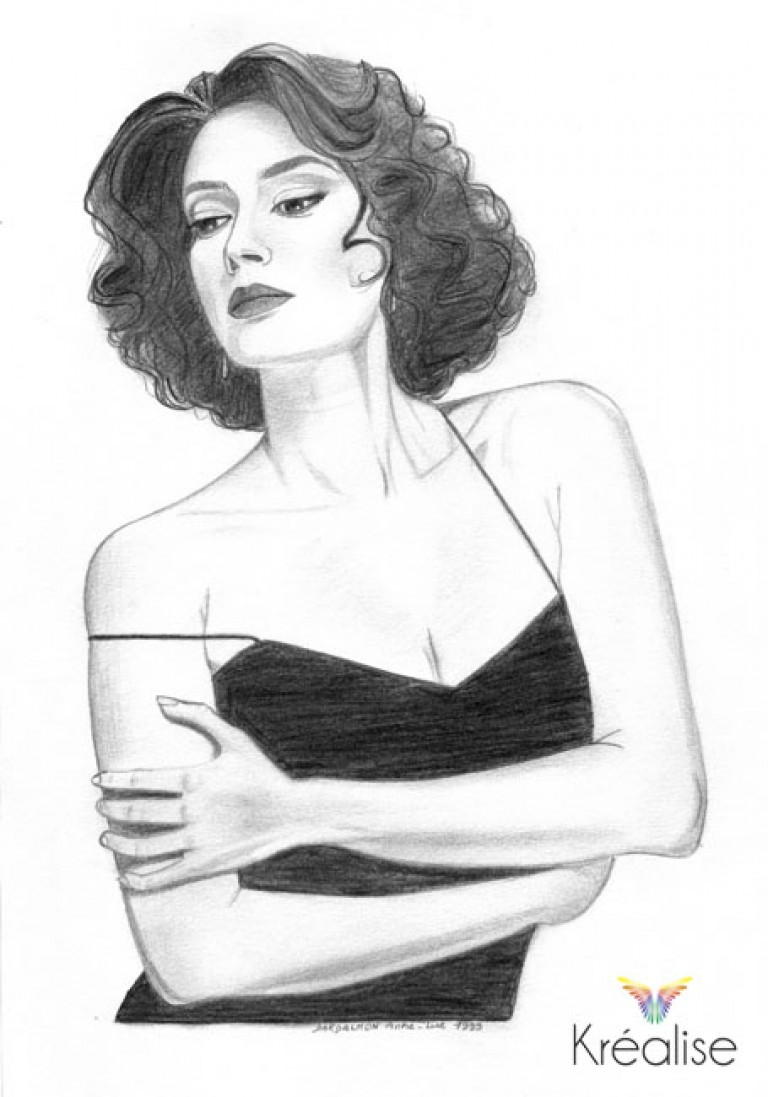 «Teri» – Dessin sur papier au crayon – 20cmX29cm – 1999 – Œuvre Originale