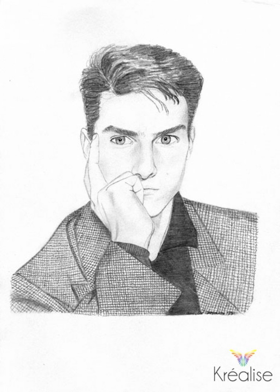«Tom» – Dessin sur papier au crayon – 21cmX30cm – 1996 – Œuvre Originale
