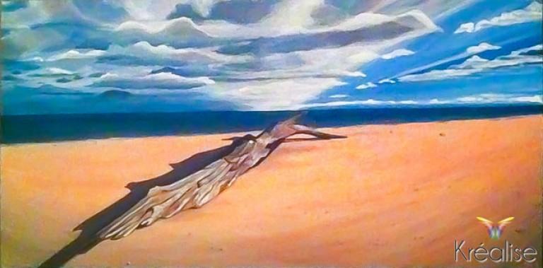 «Débranche» Peinture sur toile à l'acrylique – 100cmX50cm – 2012 – Œuvre Originale – (Vendu)