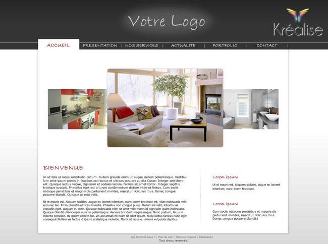 Exemple de design web pour un site d di la d coration d for Exemple reglement interieur association
